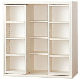 小島工芸 本棚 OF−90スライドオープンホワイト