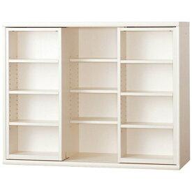 小島工芸 本棚 OF−120スライドオープンホワイト
