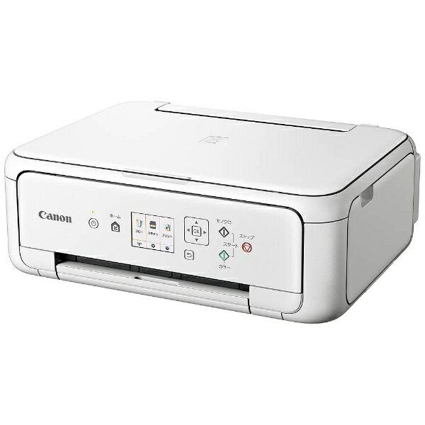 キヤノン CANON PIXUSTS5130WH インクジェット複合機 PIXUS(ピクサス) ホワイト [カード/名刺〜A4][PIXUSTS5130WH]【プリンタ】