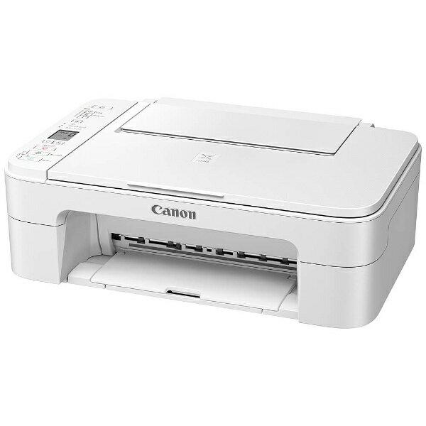 【送料無料】 キヤノン CANON A4インクジェットプリンター [無線LAN] PIXUS TS3130WH (ホワイト)