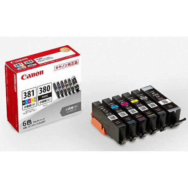 キヤノン CANON BCI-381s+380s/6MP 純正プリンターインク 6色マルチパック