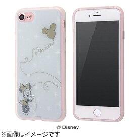 イングレム Ingrem iPhone 7用 TPUソフトケース メタルドローイング ディズニー ミニーマウス IN-DP7HM/MN