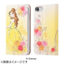 イングレム Ingrem iPhone 7用 手帳型ケース グロッシー ディズニー ベル IN-DP7O/BL