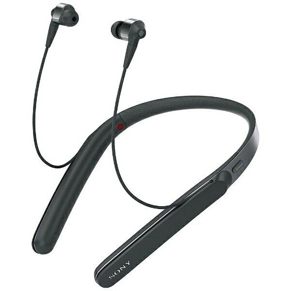 【送料無料】 ソニー SONY 【ハイレゾ音源対応】Bluetooth対応 [ノイズキャンセリング機能搭載] カナル型イヤホン(ブラック) WI-1000X BM[WI1000XBM]