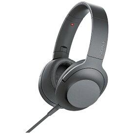 ソニー SONY ヘッドホン MDR-H600A グレイッシュブラック [リモコン・マイク対応 /φ3.5mm ミニプラグ /ハイレゾ対応][MDRH600ABC]