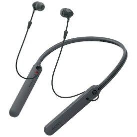 ソニー SONY bluetooth イヤホン カナル型 ブラック WI-C400BZ [リモコン・マイク対応 /ワイヤレス(ネックバンド) /Bluetooth][ワイヤレスイヤホン WIC400BZ]