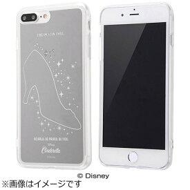 イングレム Ingrem iPhone 7 Plus用 ハイブリッドケース ミラーデザイン ディズニー シンデレラ シルバー IN-DP7PUM/CN