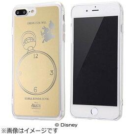 イングレム Ingrem iPhone 7 Plus用 ハイブリッドケース ミラーデザイン ディズニー アリス ゴールド IN-DP7PUM/AC