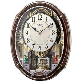 リズム時計 RHYTHM からくり時計 【スモールワールドアルディ】 木目 4MN545RH23 [電波自動受信機能有][4MN545RH23]