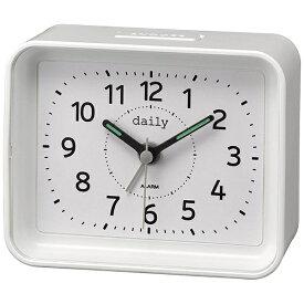 リズム時計 RHYTHM 目覚まし時計 daily(デイリー) ちょこっとけい 白(白) 4SE555DN03 [アナログ]