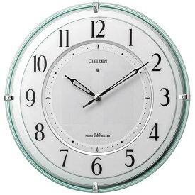 シチズン CITIZEN 掛け時計 緑透明色 4MY851-005 [電波自動受信機能有]