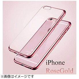 マルタカ MARUTAKA iPhone X用 メッキ加工クリアソフトケース ピンク AM379PK