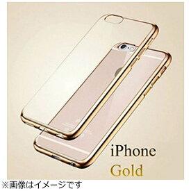 マルタカ MARUTAKA iPhone X用 メッキ加工クリアソフトケース ゴールド AM379GO