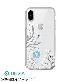 BELEX ビーレックス iPhone X用 Crystal Petunia Case シルバー BXDVCS0007SL