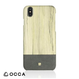 BELEX ビーレックス iPhone X用 Wooden Back Cover グレー BLOCCS2005GY