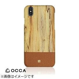 BELEX ビーレックス iPhone X用 Wooden Back Cover ナチュラル BLOCCS2005NL