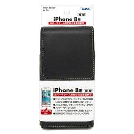 アスデック ASDEC iPhone X用 カバー付スマホ収納ホルダー 縦型 ブラック SHIP14PV