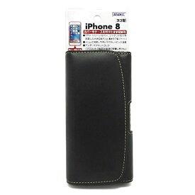 アスデック ASDEC iPhone X用 カバー付スマホ収納ホルダー ヨコ型 ブラック SHIP14PH