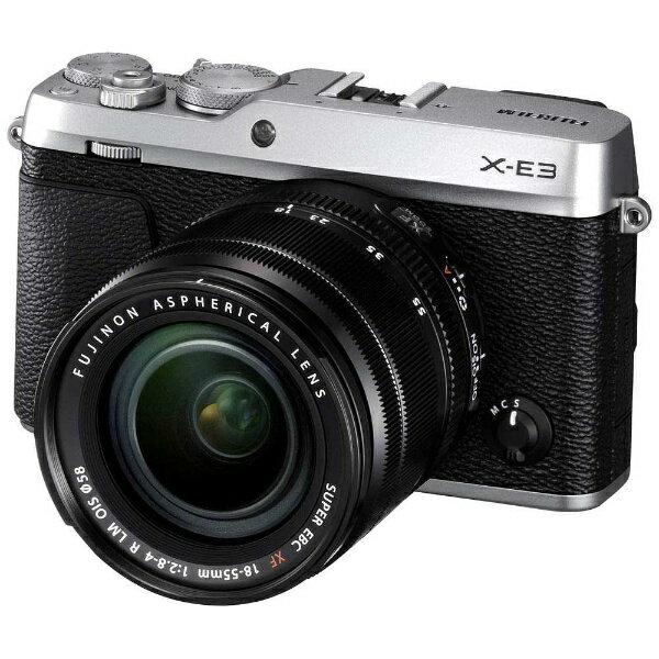 【送料無料】 フジフイルム FUJIFILM FUJIFILM X-E3【レンズキット】(シルバー/ミラーレス一眼カメラ)[FXE3LKS]