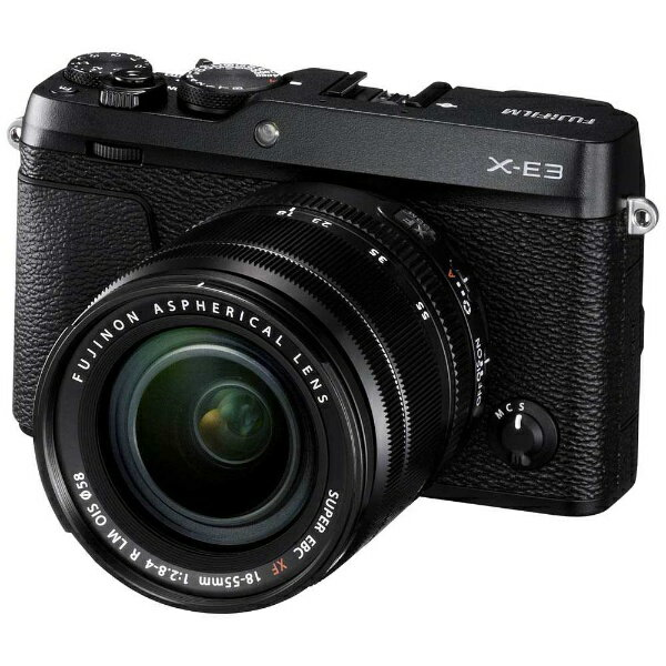 【送料無料】 富士フイルム FUJIFILM FUJIFILM X-E3【レンズキット】(ブラック/ミラーレス一眼カメラ)[FXE3LKB]