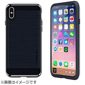 MOTOMO モトモ iPhone X用 INO Line Infinity ロイヤル インディゴ/クローム シルバー INOLIIND