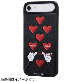 イングレム Ingrem iPhone 8 ディズニーキャラクター耐衝撃ケース ブラックハンド1 IQDP76CC3JBBH1