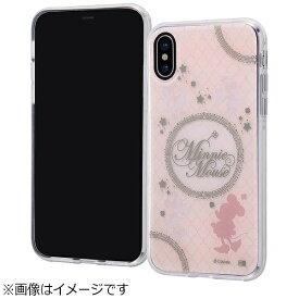 イングレム Ingrem iPhone X用 ディズニーキャラクターTPUソフトケース メタルドローイング ミニーマウス INDP8HMMN