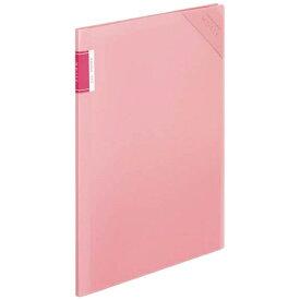 コクヨ KOKUYO [ホルダー] クリヤーホルダーブック 「モッテ」 固定式 A4縦 4ポケット フ-LM5710LP-4 薄ピンク