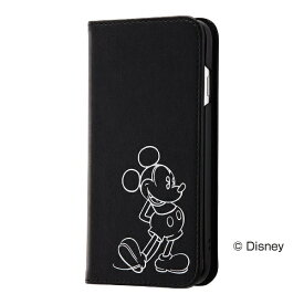 レイアウト rayout iPhone 8用 ディズニー 手帳型ケース ホットスタンプ ワンポイント ミッキーマウス RT-DP14I/MK