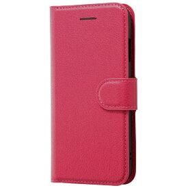 レイアウト rayout iPhone 8用 手帳型ケース シンプル マグネット ピンク RT-P14ELC1/P