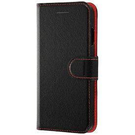 レイアウト rayout iPhone 8用 手帳型ケース シンプル マグネット ブラック/レッド RT-P14ELC1/BR