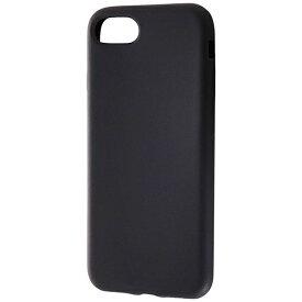 レイアウト rayout iPhone 8用 シリコンケース シルキータッチ ブラック RT-P14C1/B