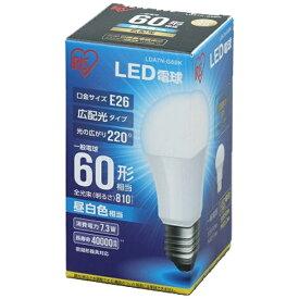 アイリスオーヤマ IRIS OHYAMA 【ビックカメラグループオリジナル】LDA7N-G-6BK LED電球 ECOHiLUX(エコハイルクス) ホワイト [E26 /昼白色 /1個 /60W相当 /一般電球形 /広配光タイプ][LDA7NG6BK]【point_rb】