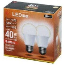 アイリスオーヤマ IRIS OHYAMA 【ビックカメラグループオリジナル】LDA5L-G-42BK LED電球 ECOHiLUX(エコハイルクス) ホワイト [E26 /電球色 /2個 /40W相当 /一般電球形 /広配光タイプ][LDA5LG42BK]【point_rb】