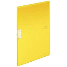 コクヨ KOKUYO クリヤーブック「モッテ」(固定式)A4縦 10枚ポケット ラ-LM10Y 黄