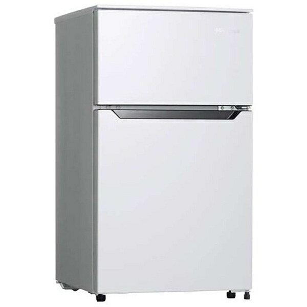 ハイセンス Hisense 《基本設置料金セット》HR-B95A-W 冷蔵庫 ホワイト [2ドア /右開きタイプ /93L][HRB95A_W] [冷蔵庫 一人暮らし 新生活 家電]
