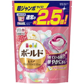 P&G ピーアンドジー Bold(ボールド)ジェルボール3D 癒しのプレミアムブロッサムの香り つめかえ用 超ジャンボサイズ (44個) 〔衣類用洗剤〕【wtnup】