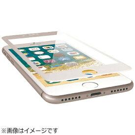 エレコム ELECOM iPhone SE(第2世代)4.7インチ / iPhone 8 フルカバーガラスフィルム ドラゴントレイル フレーム付 ホワイト PM-A17MFLGFRDTW