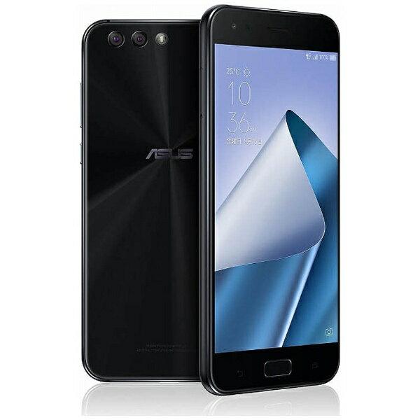 【送料無料】 ASUS ZenFone 4(ZE554KL) ミッドナイトブラック 「ZE554KL-BK64S6」 Android 7.1.1・5.5型・メモリ/ストレージ:6GB/64GB nanoSIMx1 nanoSIM or micro SDx1 SIMフリースマートフォン