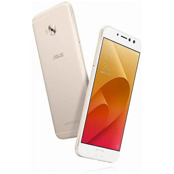 【送料無料】 ASUS エイスース ZenFone 4 Selfie Pro(ZD552KL)サンライトゴールド「ZD552KL-GD64S4」 Snapdragon 625 5.5型・メモリ/ストレージ:4GB/64GB nanoSIMx1 nanoSIM or micro SDx1 DSDS対応 ドコモ/au/ソフトバック/YmobileSIM対応 SIMフリースマー
