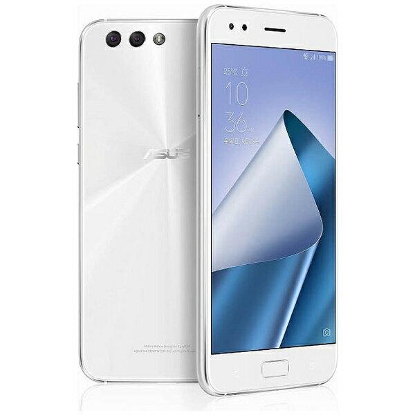 【送料無料】 ASUS ZenFone 4(ZE554KL) ムーンライトホワイト 「ZE554KL-WH64S6」 Android 7.1.1・5.5型・メモリ/ストレージ:6GB/64GB nanoSIMx1 nanoSIM or micro SDx1 SIMフリースマートフォン
