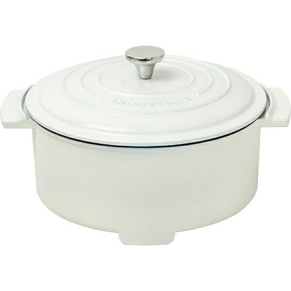 ヤマゼン YAMAZEN グリル鍋 「Casserolle(キャセロール)」(プレート1枚) YGC-800-W ホワイト[YGC800W]