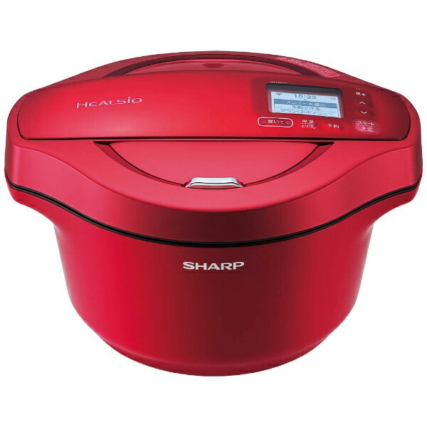 【送料無料】 シャープ 水なし自動調理鍋 「ヘルシオ ホットクック」(2.4L) KN-HW24C-R レッド系