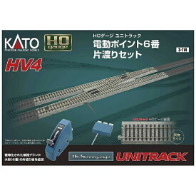 KATO カトー 【HOゲージ】3-114 HV-4 電動ポイント6 番片渡りセット