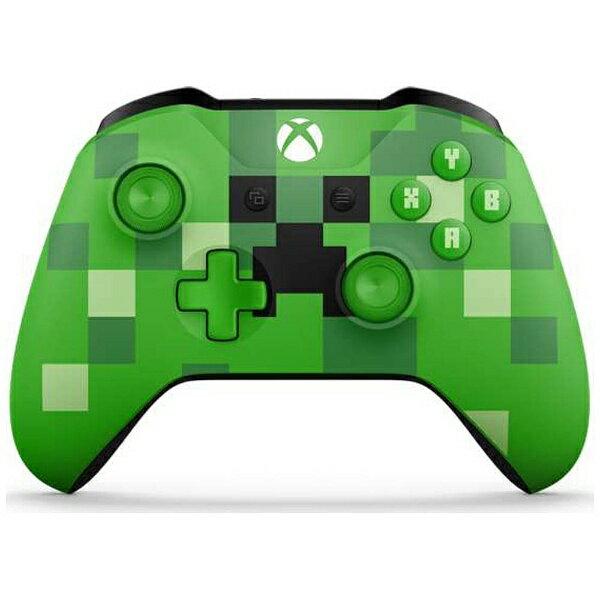 【送料無料】 マイクロソフト 【純正】Xbox ワイヤレス コントローラー (Minecraft Creeper) WL3-00058[Xbox One]