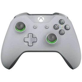 マイクロソフト Microsoft 【純正】Xbox ワイヤレス コントローラー (グレー / グリーン) WL3-00062[Xbox One]