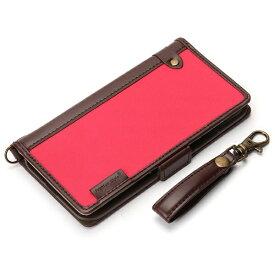 PGA iPhone X用 手帳型 フリップカバー ナイロン生地 ピンク PG-17XFP24PK