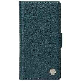PGA iPhone X用 手帳型 フリップカバー エンボスPUレザー ブルー PG-17XFP14BL