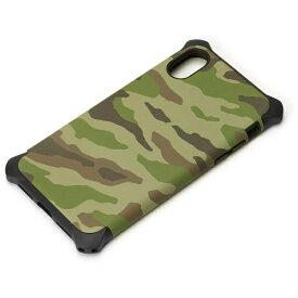 PGA iPhone X用 ハイブリッドタフケース ミリタリー グリーン PG-17XPT16GR