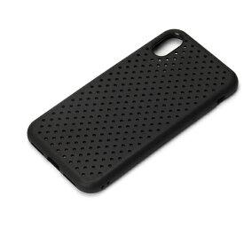 PGA iPhone X用 ドットメッシュケース ブラック PG-17XTP10BK